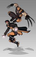 X-men Costume Redesign: Wolverine and Jubilee by Hiroki8