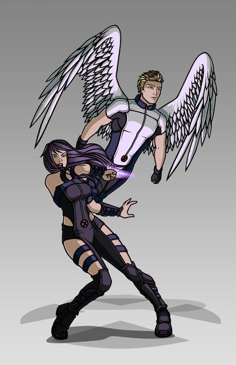X-men Costume Redesign: Angel and Psylocke by Hiroki8 on ... X Men Archangel Drawings
