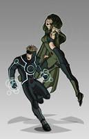 X-men Costume Redesign: Havok and Polaris by Hiroki8