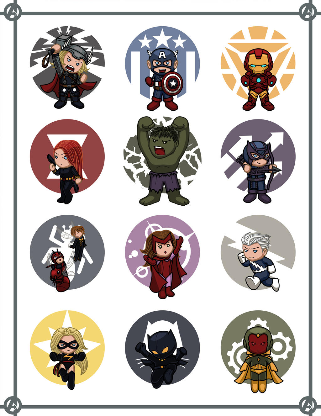 Cute Avengers Cartoon Wallpaper Godstyle Keywords And Pictures