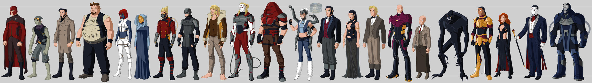 X-villains Costume Redesigns by Hiroki8