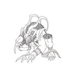 Final Fantasy Summons Line Art - Ifrit