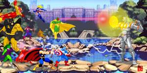 Avengers sprite battle