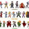 X-team sprites lineup by Hiroki8