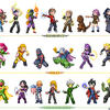 Young Marvel sprites lineup by Hiroki8