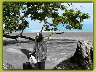 Homeless on the beach by Julliversum