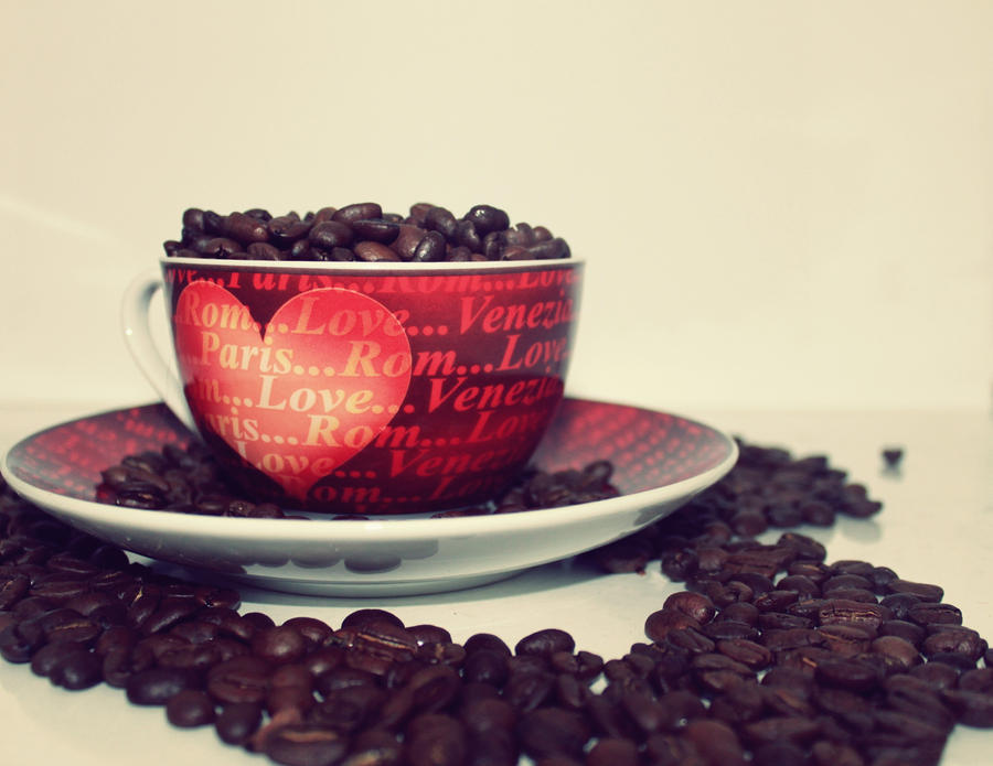 Love Paris and Coffe by Regenbogenfraggel - S�cac�k Bir Mola