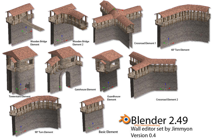 Blender 3d Wallset by Jimmyon