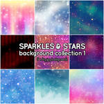 Sparkles and Stars background collection 1