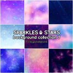 Sparkles and Stars background collection 3