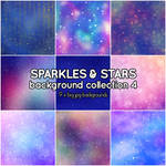 Sparkles and Stars background collection 4