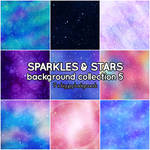 Sparkles and Stars background collection 5