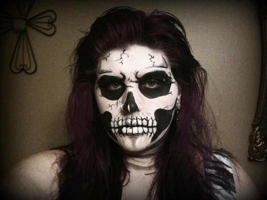 Voodoo Skull Face Paint Skeleton face paint by gothic-Voodoo Skull Face Paint