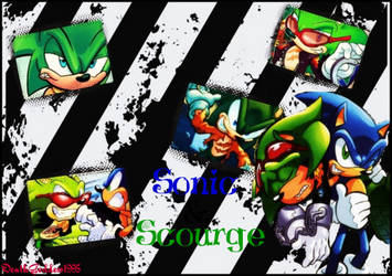 Sonic and Scourge Collage by DeathGoddess1995