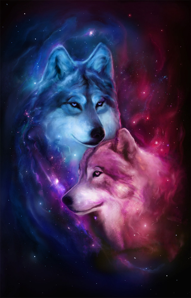 Nebula Wolves by Roberto-Carrillo