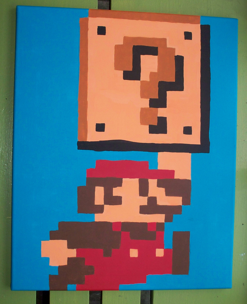Pixel Mario Question Block by Jennifer-EA on DeviantArt