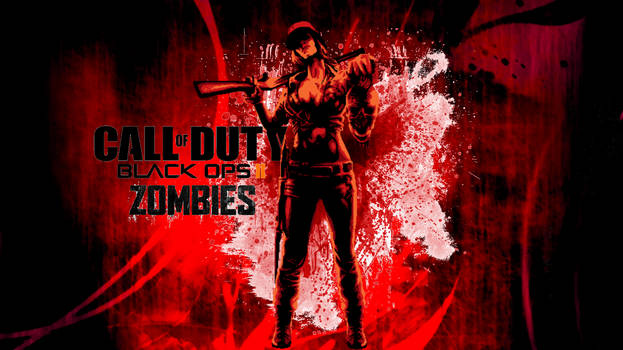 black ops 2 zombies wallpaper  by gamergirlist d5q6iyf