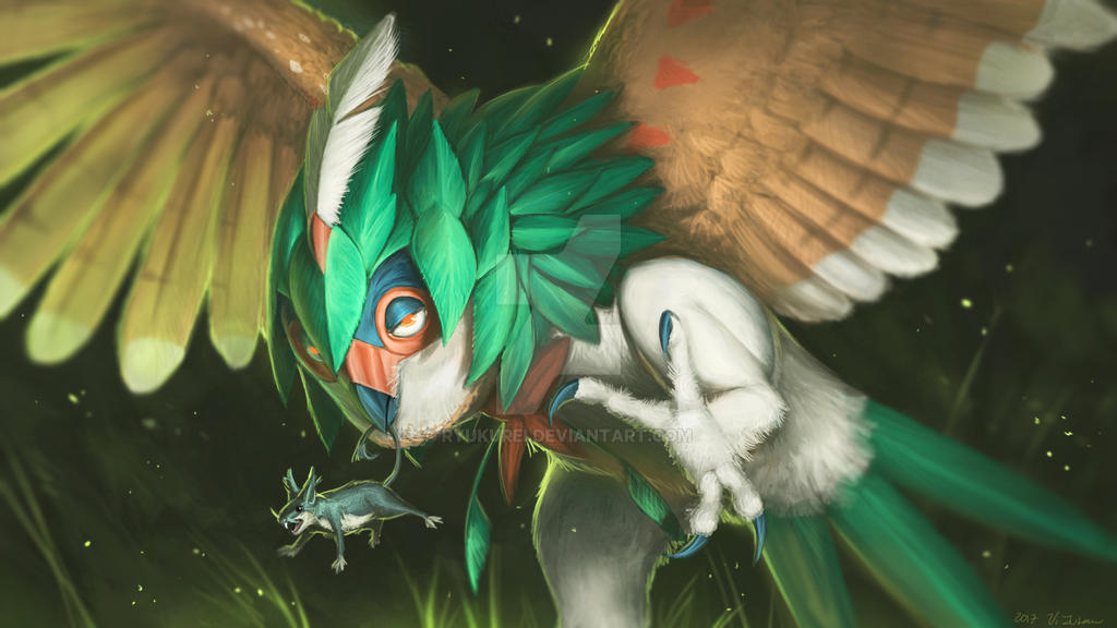 decidueye fanart by ryukurei on deviantart