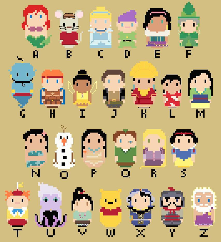 disney character alphabet letters do disney character alphabet letters