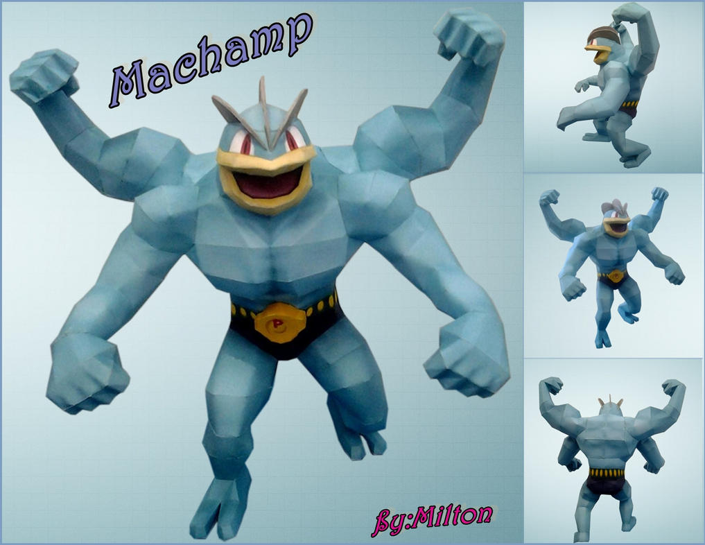 machamp papercraft by milton22x