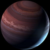 Crimson gas giant by Anikoo