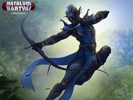 Sniper the Ebony Archer - night elf by Anikoo