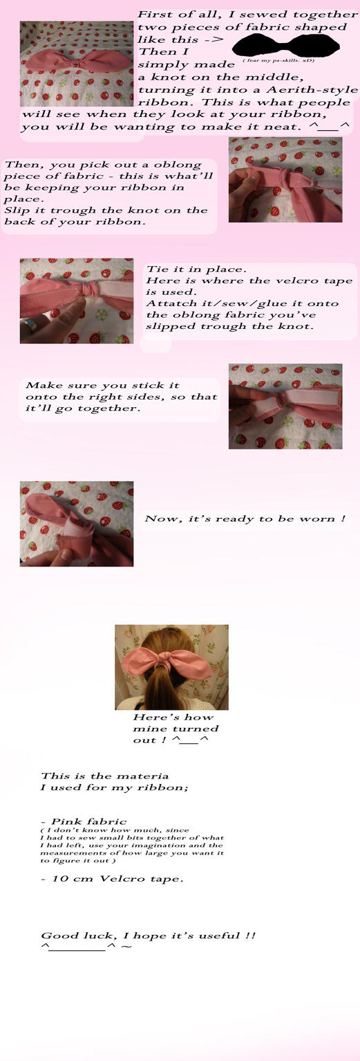 Aerith ribbon Mianju-style by ToriikoCosplay