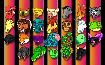 Hotline Miami Masks Wallpaper
