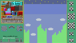 SMW - PrincessCastle Tileset and Background