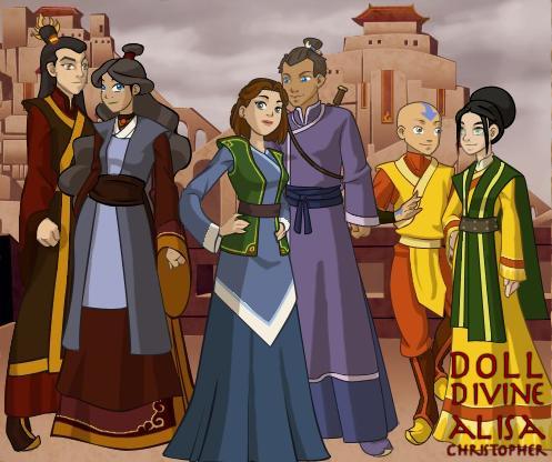 Team Avatar Grown Up By AnimeLoverWoman