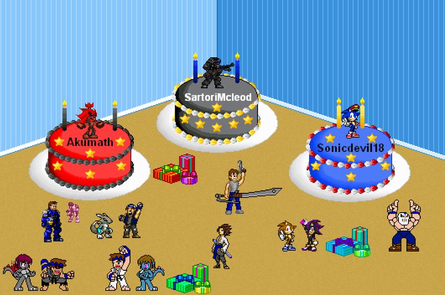 Happy Birthday 3 of you! by Darkblane257