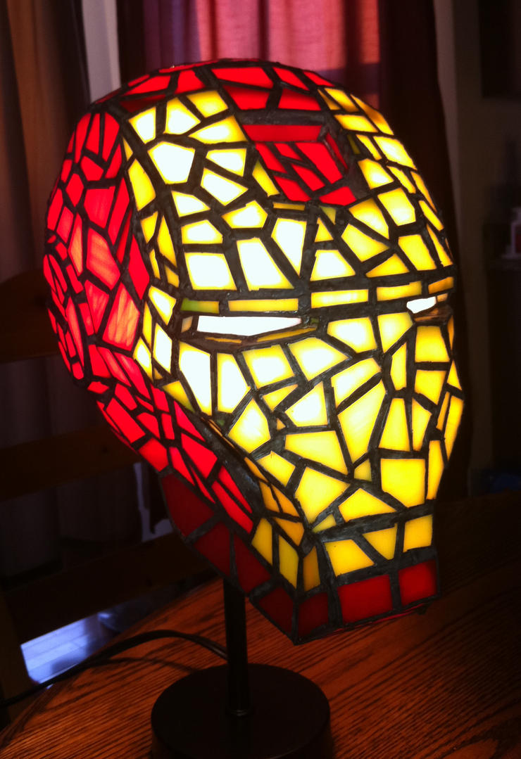 Iron Man Stained Glass Helmet by mclanesmemories on DeviantArt