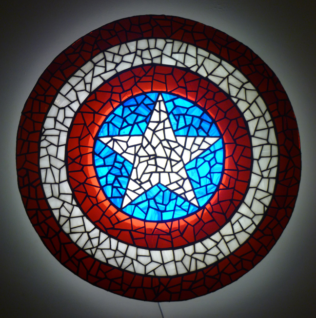 Captain America Shield In Stained Glass By Mclanesmemories ...