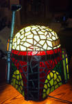 New Stained Glass Version of Boba Fett Helmet by mclanesmemories