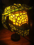 Halo Master Chief Helmet as Stained Glass Lamp