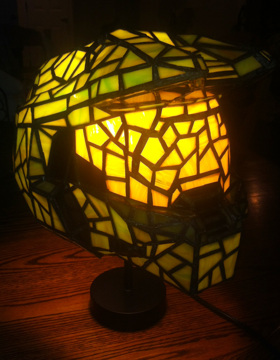Halo Master Chief Helmet as Stained Glass Lamp by mclanesmemories