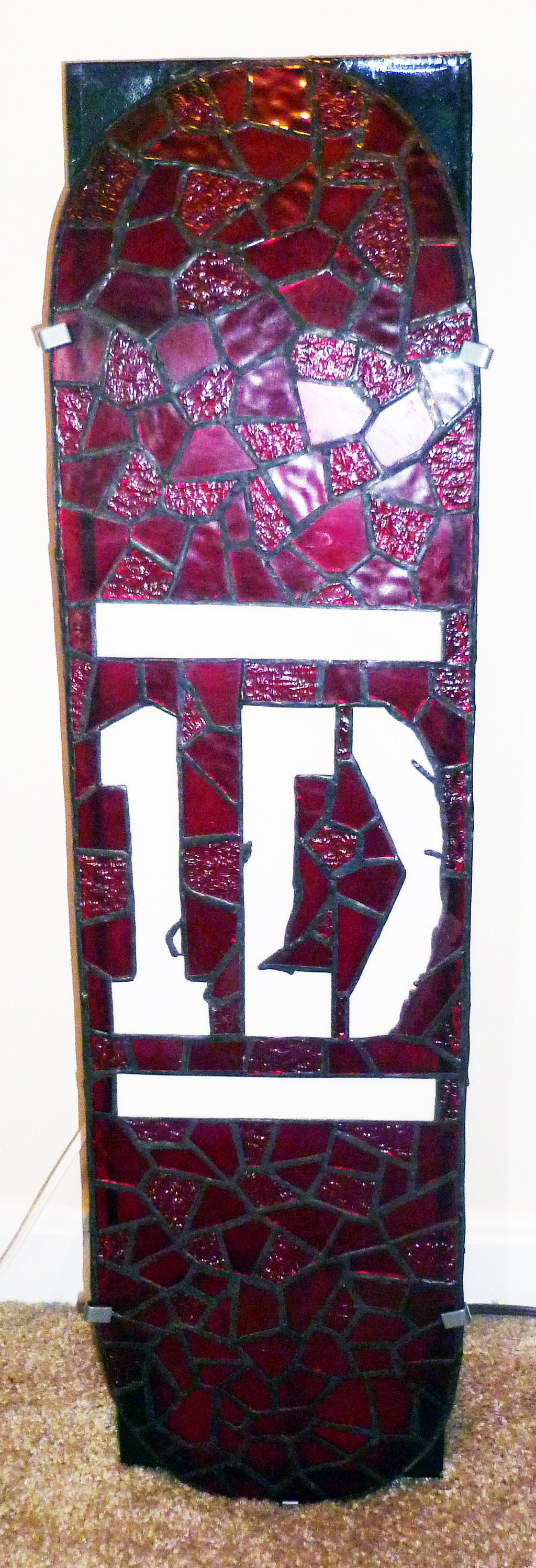 One Direction Stained Glass Wall Light -  Unlit by mclanesmemories
