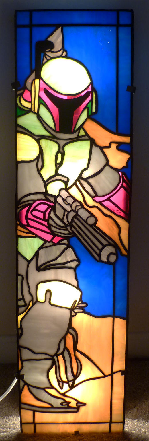 Boba Fett Stained Glass Wall Panel Light by mclanesmemories