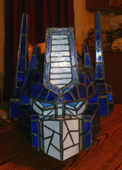 Optimus Prime Stained Glass Helmet Desk Lamp Unlit