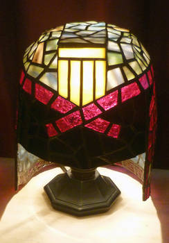 Judge Dredd Stained Glass Desk Lamp