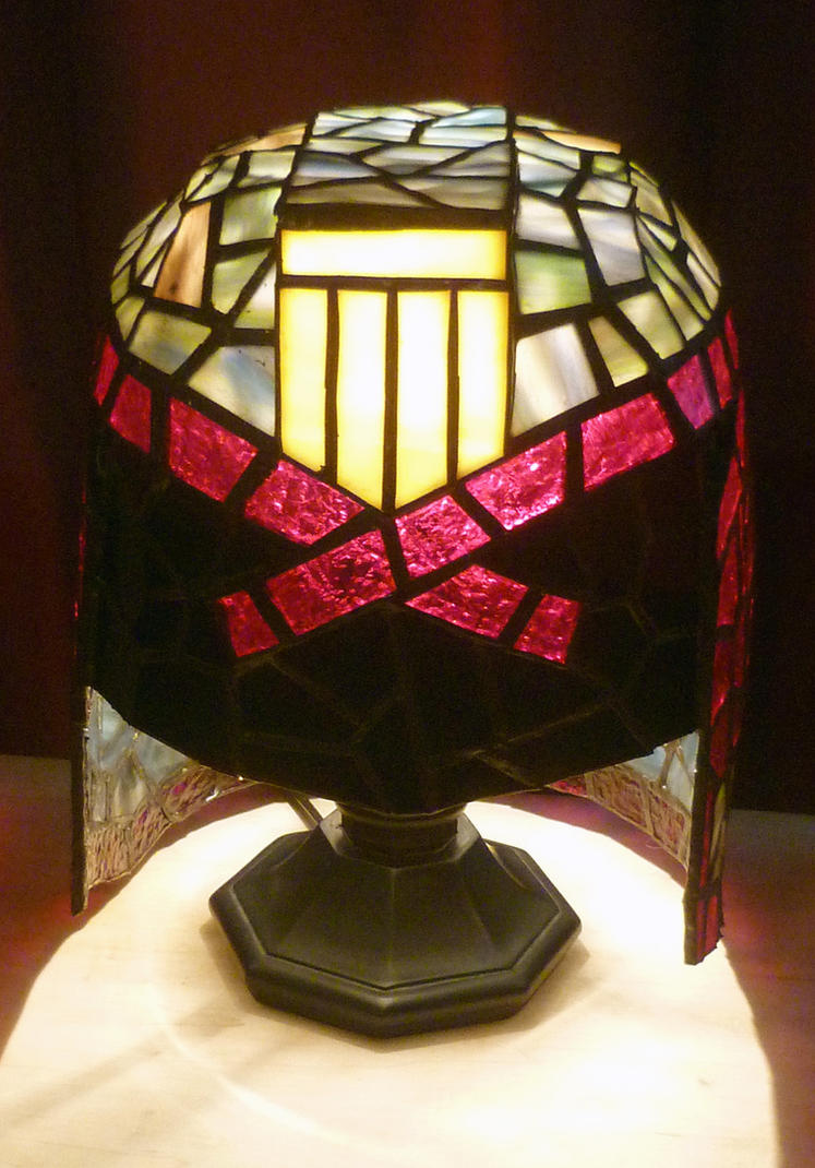 Judge Dredd Stained Glass Desk Lamp by mclanesmemories