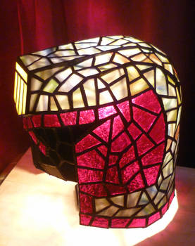 Judge Dredd Helmet Stained Glass Desk Lamp 2