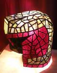 Judge Dredd Helmet Stained Glass Desk Lamp 2