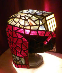 Judge Dredd Helmet Stained Glass Desk Lamp 3