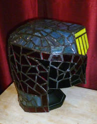 Judge Dredd Stained Glass Desk Lamp Unlit by mclanesmemories