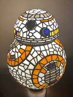 BB8 Stained Glass Desk Lamp by mclanesmemories