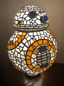 BB8 Stained Glass Lamp