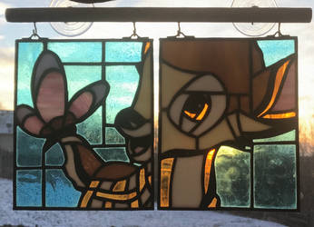 Bambi Stained Glass Window Hanging by mclanesmemories