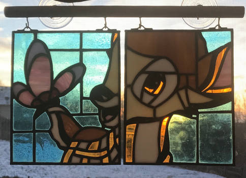 Bambi Stained Glass Window Hanging