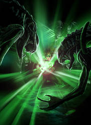 Green Lantern vs. Aliens